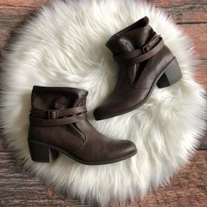 American Eagle Outfitters Buckled Booties